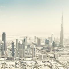 © Johannes Heuckeroth, Aerial view of the surreal world of the desert city of Dubai, Dubai, 2013 da: Sony World