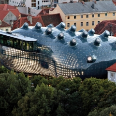 © Peter Cook, Graz art/architecture – Kunsthaus, 2014, da: www.area-arch.it