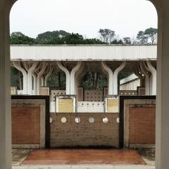 © Duccio Prassoli, Moschea di Roma, Vista parapetto da colonnato, Roma, 2019