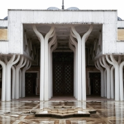 © Duccio Prassoli, Moschea di Roma, Vista ingresso sala preghiera, Roma, 2019