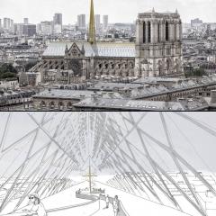 © Godart Roussel, Notre Dame, Parigi, 2019, da: www.finestresullarte.info