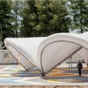 © Delfino Sisto Legnani/Marco Cappelletti, Maidan Tent, Ritsona/Grecia, Dettaglio struttura, Fotografia, 2018, da: www.maidantent.org