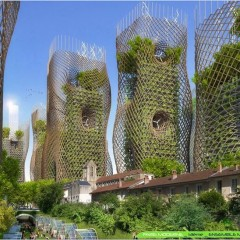 © Vincent Callebaut Architects, Paris 2050, Bamboo nest tower 2015, da: archidaily.com