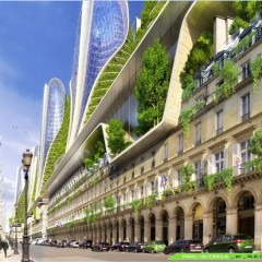 © Vincent Callebaut Architects, Paris 2050, Mountain towers, 2015, da: archidaily.com