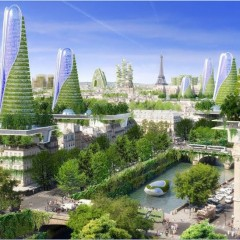 © Vincent Callebaut Architects, Paris 2050, View, 2015, da: archidaily.com