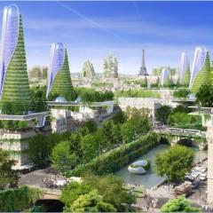 © Vincent Callebaut Architects, Paris 2050, View, 2015, da: archidaily.com
