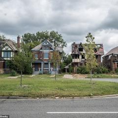 © Mediadrumimages, Kyle Brooky, Detroit neighborhoods, 2019, da: www.dailymail.co.uk